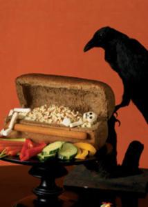 4 - Un cercueil avec un pain Peut-tre faire le squelette avec du fromage ficello
